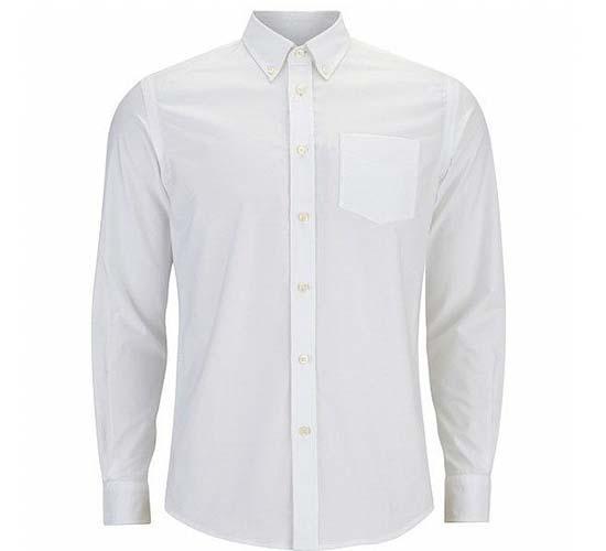 חולצת גבר כפתורים אלגנט לבן