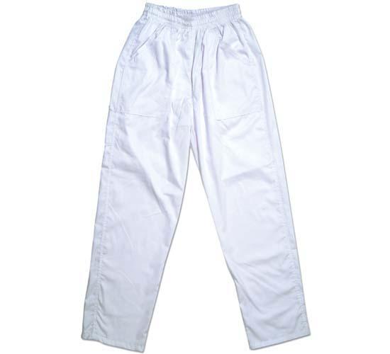 מכנס גומי לבן